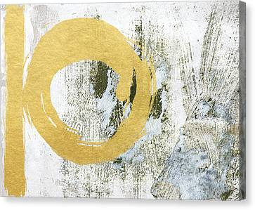Gold Rush - Abstract Art Canvas Print by Linda Woods
