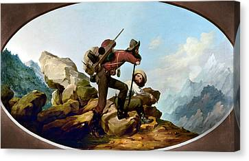 Gold Rush Miners, C1850 Canvas Print by Granger