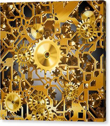 Gold Time.  Canvas Print by Tautvydas Davainis