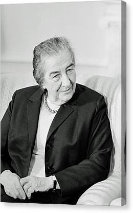 Golda Meir 1973 Canvas Print by Mountain Dreams