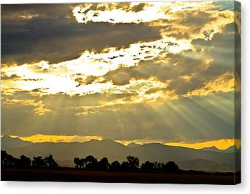 Golden Beams Of Sunlight Shining Down Canvas Print by James BO  Insogna