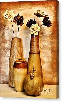 Golden Brown Toned Still Canvas Print by Marsha Heiken