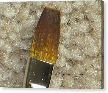 Golden Brush Canvas Print by Sonali Gangane