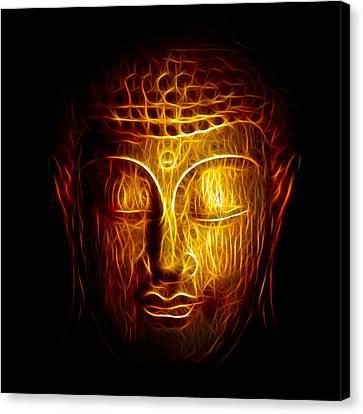 Golden Buddha Abstract Canvas Print by Adam Romanowicz