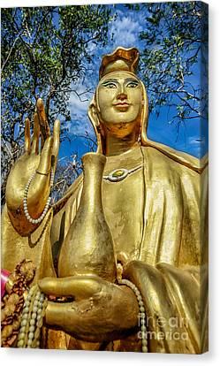 Golden Buddha Statue Canvas Print by Adrian Evans