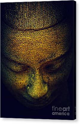Golden Buddha Canvas Print by Susanne Van Hulst