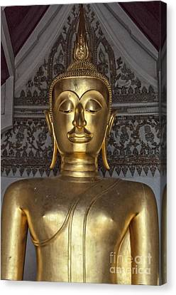 Golden Buddha Temple Statue Canvas Print by Antony McAulay