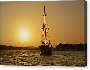 Golden Cabo Sunset Canvas Print by Christine Till