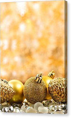 Golden Christmas  Canvas Print by Elena Elisseeva