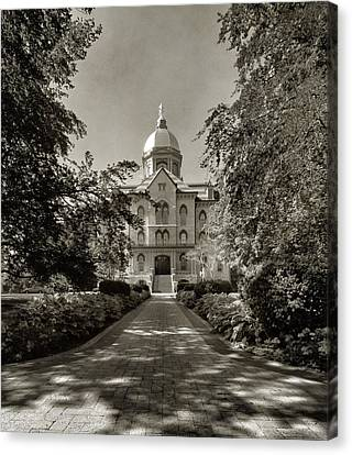 Golden Dome At Notre Dame University Canvas Print by Dan Sproul