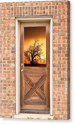 Golden Doorway Window View Canvas Print by James BO  Insogna