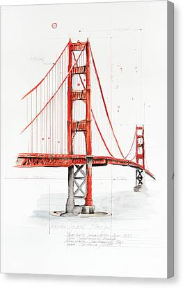 Golden Gate Bridge Canvas Print by Astrid Rieger