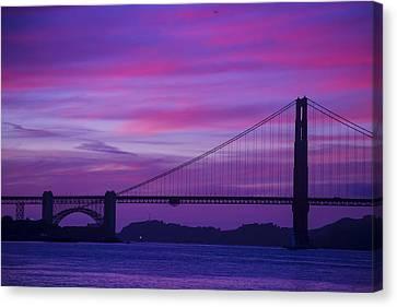 Golden Gate Bridge At Twilight Canvas Print by Garry Gay