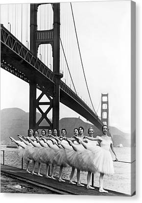 Golden Gate Bridge Ballet Canvas Print by Underwood Archives