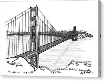 Golden Gate Bridge Canvas Print by Calvin Durham