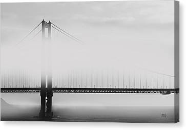 Golden Gate Bridge - Fog And Sun Canvas Print by Ben and Raisa Gertsberg
