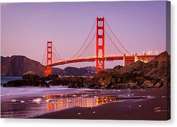 Golden Gate Bridge From Baker Beach Canvas Print by Alexis Birkill