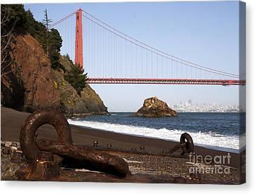Golden Gate Bridge - Iron Relic Canvas Print by Juan Romagosa