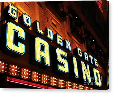 Golden Gate Casino Canvas Print by John Rizzuto
