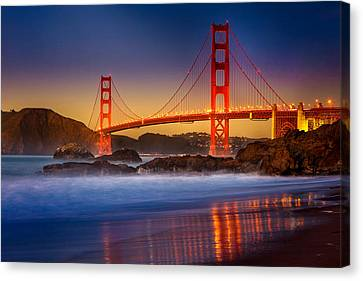 Golden Gate Canvas Print by Jeana Childress