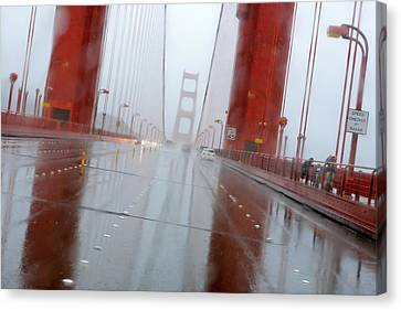 Golden Gate Rain Canvas Print by Daniel Furon