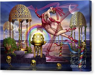 Golden Gazebos Canvas Print by Ciro Marchetti