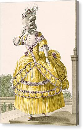 Golden Gown, Engraved By Dupin, Plate Canvas Print by Pierre Thomas Le Clerc