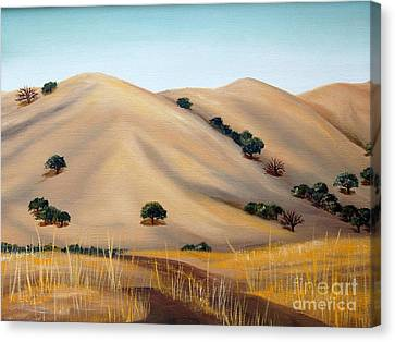 Golden Hills Canvas Print by AnnaJo Vahle