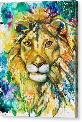 Golden Lion Canvas Print by Patricia Allingham Carlson