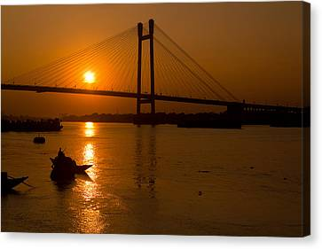 Golden Sail Canvas Print by Sourav Bose