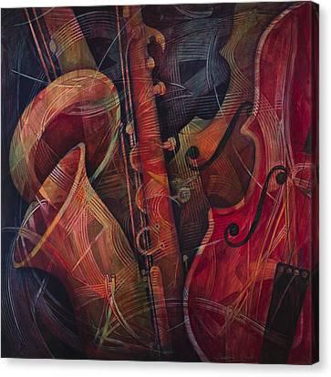 Golden Sax Canvas Print by Susanne Clark