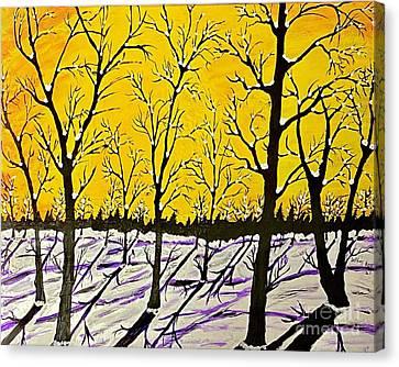 Golden Shadows Canvas Print by Jeffrey Koss