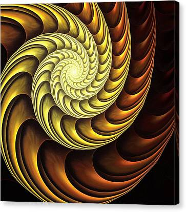 Golden Spiral Canvas Print by Anastasiya Malakhova