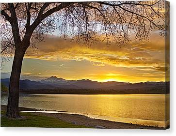 Golden Spring Time Twin Peaks Sunset View Canvas Print by James BO  Insogna