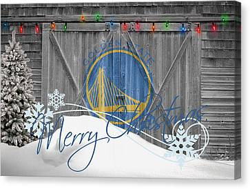 Golden State Warriors Canvas Print by Joe Hamilton