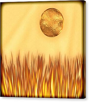 Golden Summers Canvas Print by Wendy J St Christopher