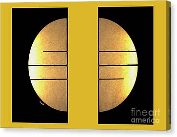 Golden Sun Diptych Canvas Print by Cheryl Young