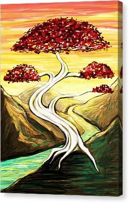 Golden Sunrise Canvas Print by Shawna  Rowe