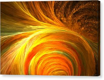 Golden Swirls Canvas Print by Lourry Legarde