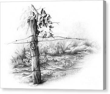 Goldfinch Love Canvas Print by Emily Wickerham