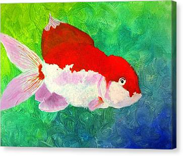 Goldfish Canvas Print by MaryEllen Frazee
