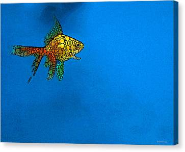 Goldfish Study 4 - Stone Rock'd Art By Sharon Cummings Canvas Print by Sharon Cummings