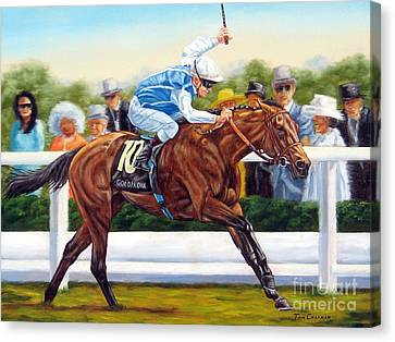 Goldikova Winning At Royal Ascot Canvas Print by Tom Chapman