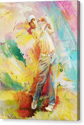 Golf Action 01 Canvas Print by Catf