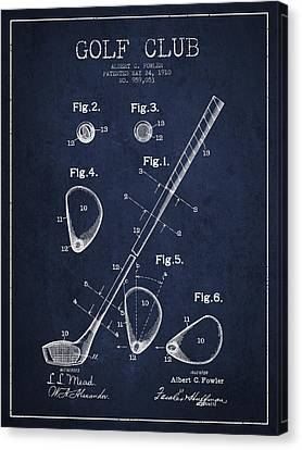 Golf Club Patent Drawing From 1910 Canvas Print by Aged Pixel