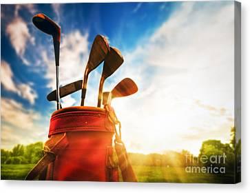 Golf Equipment  Canvas Print by Michal Bednarek