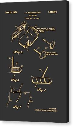 Golf Putter Patent 1970 Canvas Print by Mountain Dreams