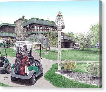Golf Seven Springs Mountain Resort Canvas Print by Albert Puskaric