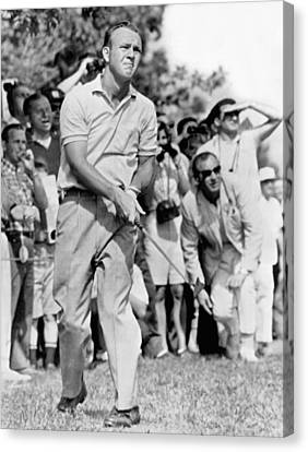 Golfer Arnold Palmer Canvas Print by Underwood Archives