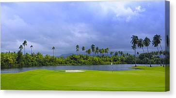 Golfer's Paradise Canvas Print by Stephen Anderson